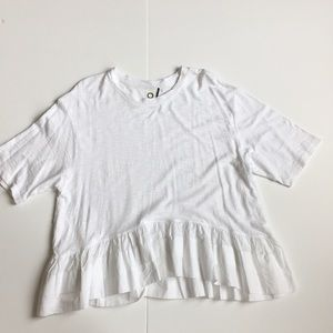 Anthropologie Akemi+Kim Oversized Cotton T-Shirt